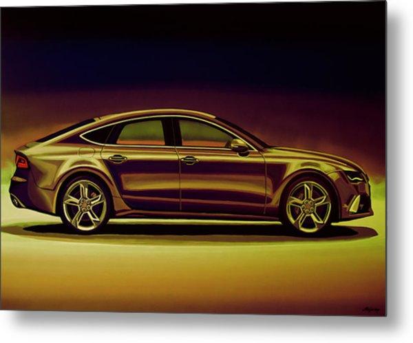 Audi Rs7 2013 Mixed Media Metal Print