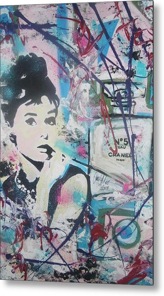 Audrey Chanel Metal Print