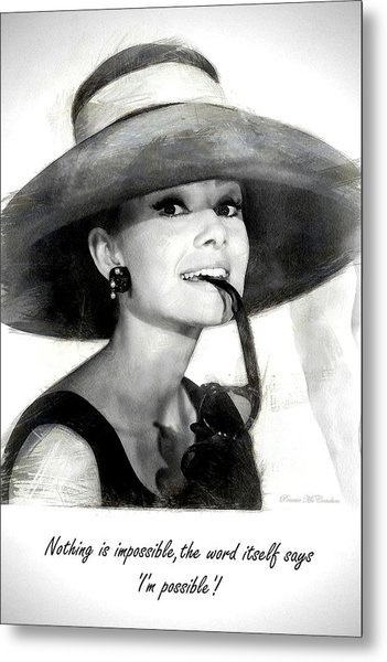 Audrey Hepburn 2 Metal Print