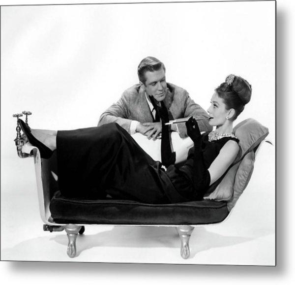 Audrey Hepburn Holly Golightly Breakfast At Tiffanys  Metal Print