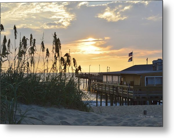 August Sunrise On The Obx  Metal Print