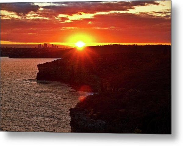 August Sunset From North Head Metal Print