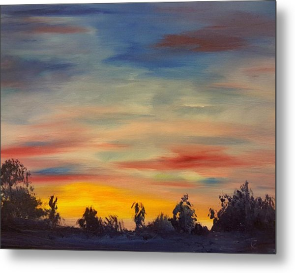 August Sunset In Sw Montana Metal Print