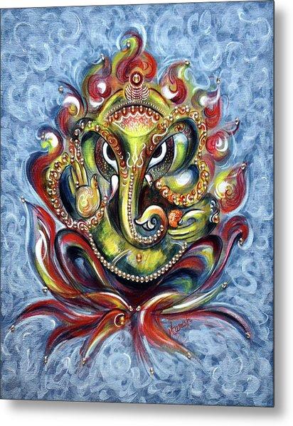 Aum Ganesha Metal Print