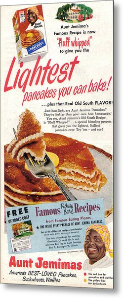 Aunt Jemima Pancakes Metal Print
