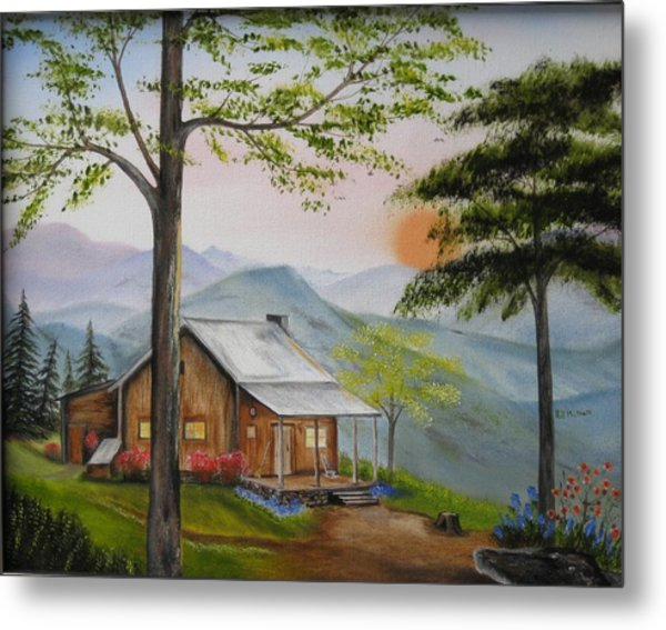 Auntie's Cabin Metal Print by RJ McNall
