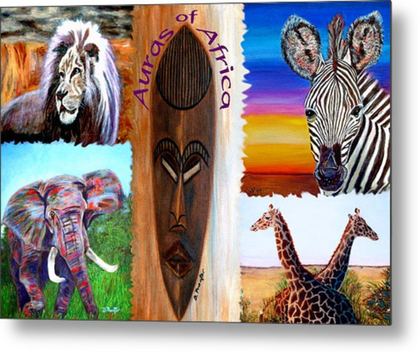 Metal Print featuring the painting Auras Of Africa by Donna Proctor