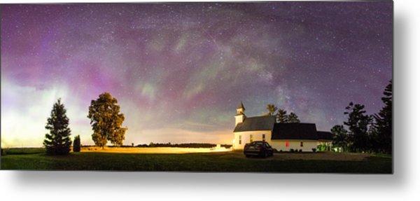 Aurora And Milky Way  Metal Print by Lorraine Matti