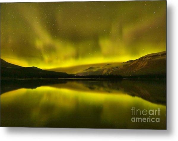 Aurora Borealis At Jasper National Park Metal Print