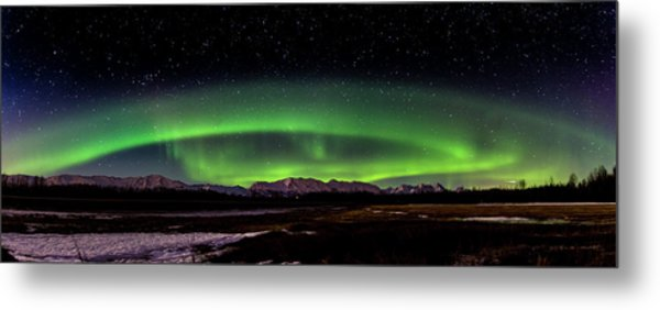 Metal Print featuring the photograph Aurora Spiral by Bryan Carter