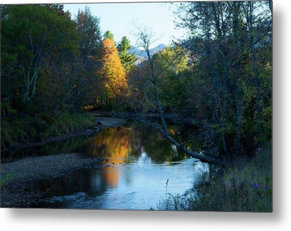 Ausable River Autumn Metal Print