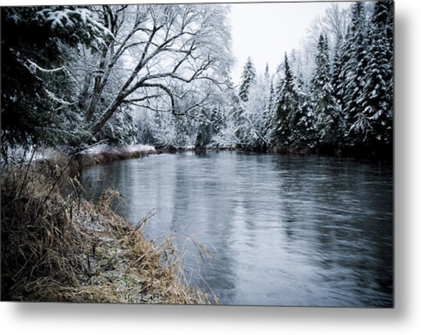 Ausable Winter Metal Print by Todd Bissonette