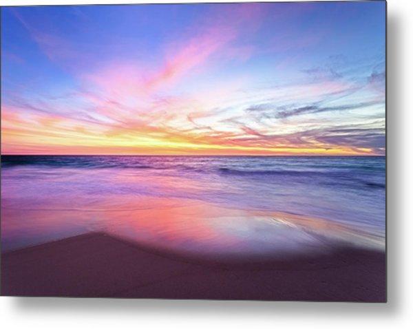 Aussie Sunset, Claytons Beach, Mindarie Metal Print