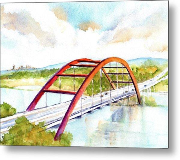 Austin 360 Bridge - Pennybacker Metal Print