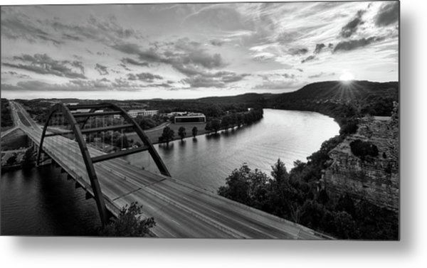 Austin 360 Pennybacker Bridge Sunset Metal Print