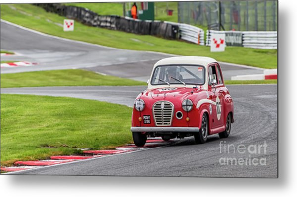 Metal Print featuring the photograph Austin A35  by Adrian Evans