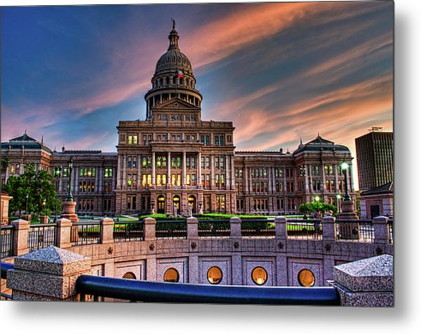 Metal Print featuring the photograph Austin Capitol by John Maffei