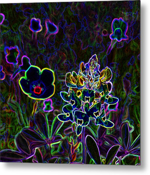 Austin Flowers After The Party Metal Print