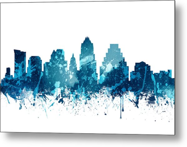 Austin Texas Skyline 19 Metal Print