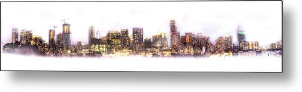 Austin Texas Skyline With White Blackground  Metal Print