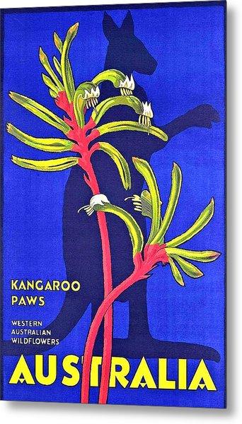 Australia, Kangaroo Paws Metal Print