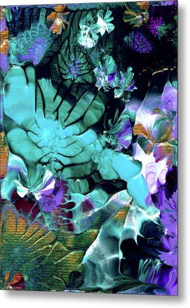 Australian Emerald Begonias Metal Print