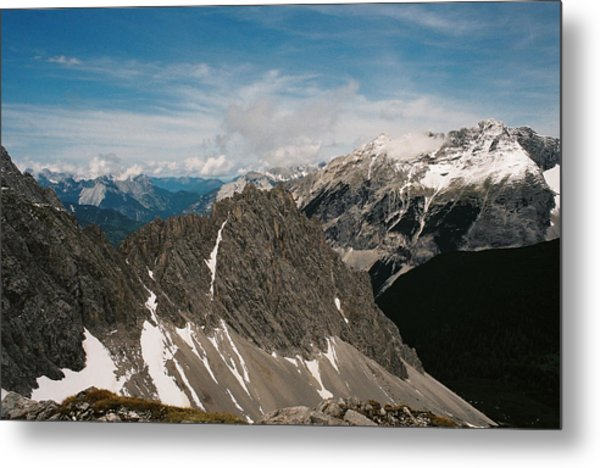 Austrian Alps On A Sunny Day Metal Print by Patrick Murphy