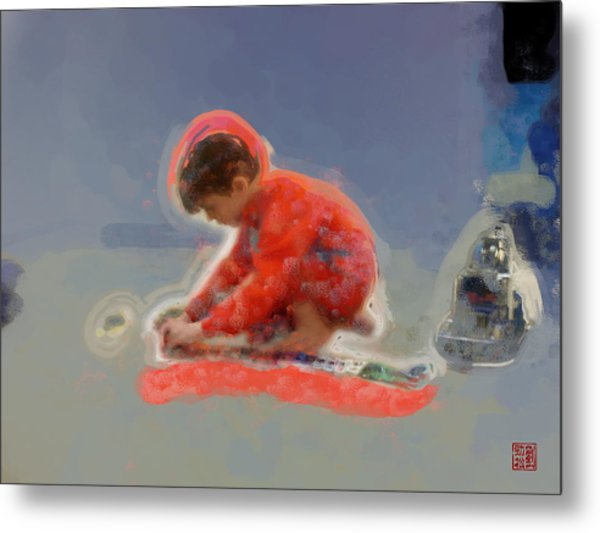 Autism - All In A Row Metal Print