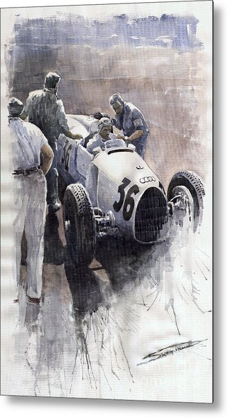 Auto Union B Type 1935 Italian Gp Monza B Rosermeyer Metal Print
