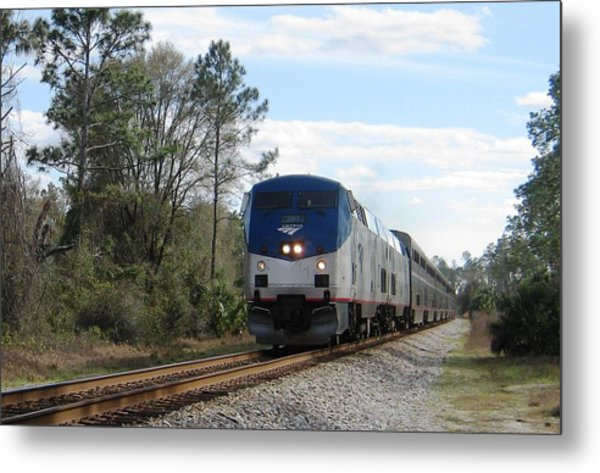 Autotrain At Lake Woodruff Metal Print