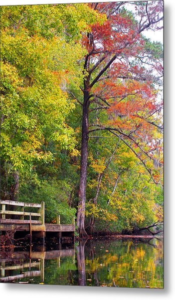 Autumn Along Brices Creek Metal Print