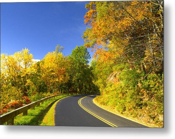 Autumn Appalachian Drive Metal Print by Darrell Young
