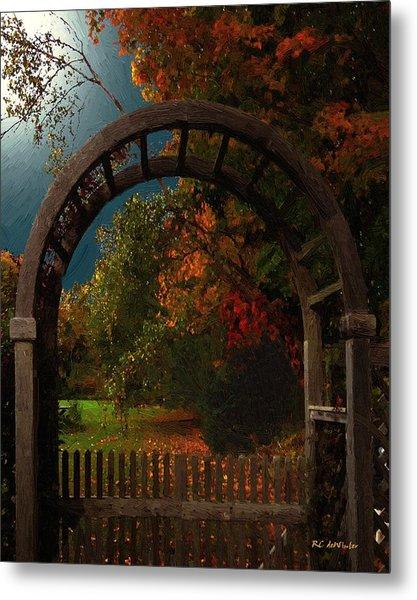Autumn Archway Metal Print