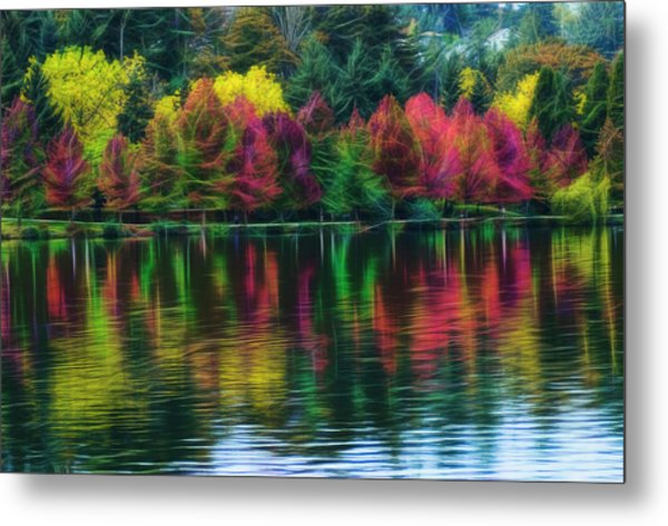 Autumn At Green Lake Seattle Metal Print