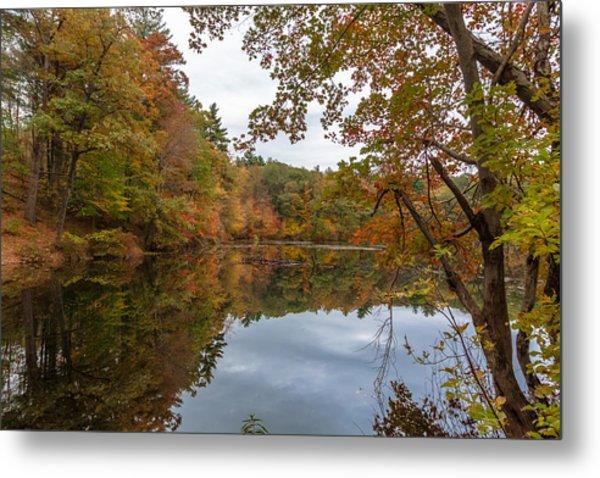 Autumn At Hillside Pond Metal Print