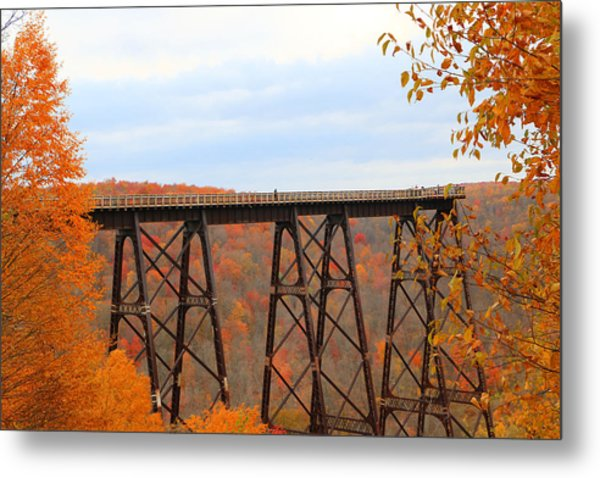 Autumn At Kinzua Bridge Metal Print