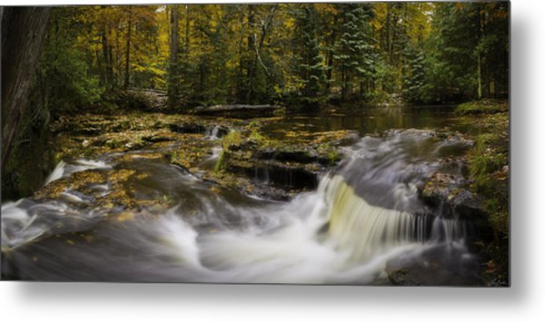Metal Print featuring the photograph Autumn At Laughing Whitefish Falls by Owen Weber