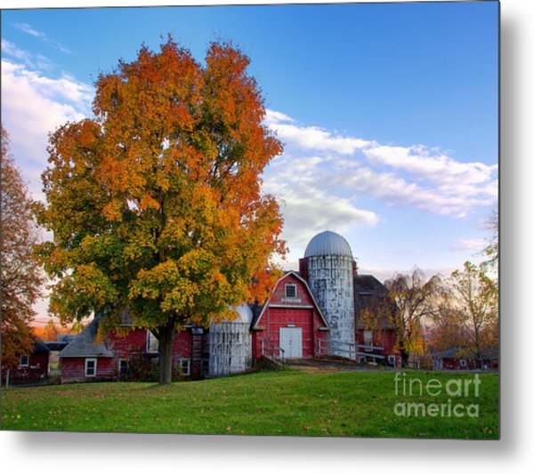 Autumn At Lusscroft Farm Metal Print