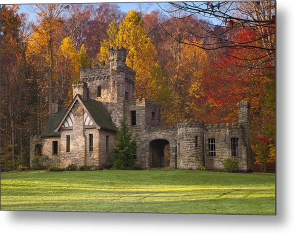 Autumn At Squire's Castle 1 Metal Print