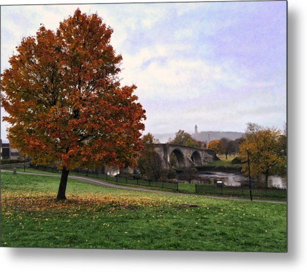 Autumn At Stirling Bridge Metal Print