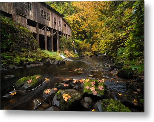 Autumn At The Grist Mill Metal Print