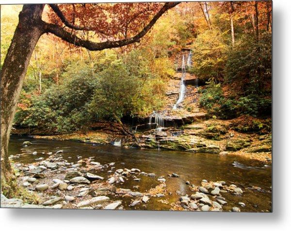 Autumn At Tom Branch Falls  Metal Print