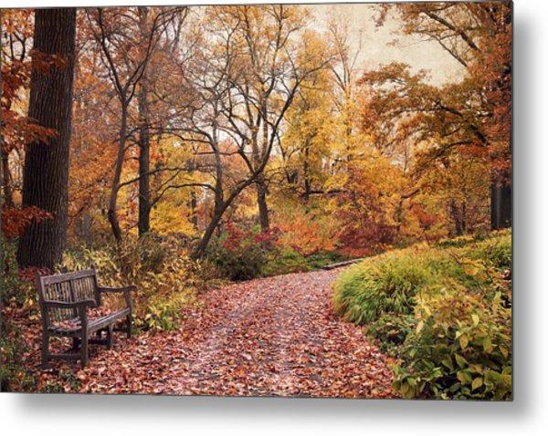 Autumn Azalea Garden Metal Print