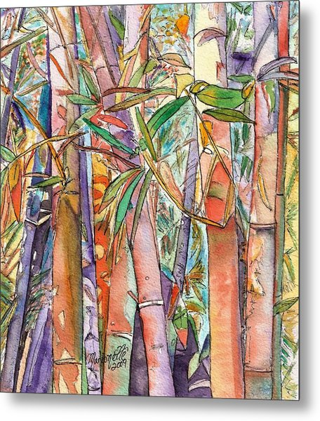 Autumn Bamboo Metal Print