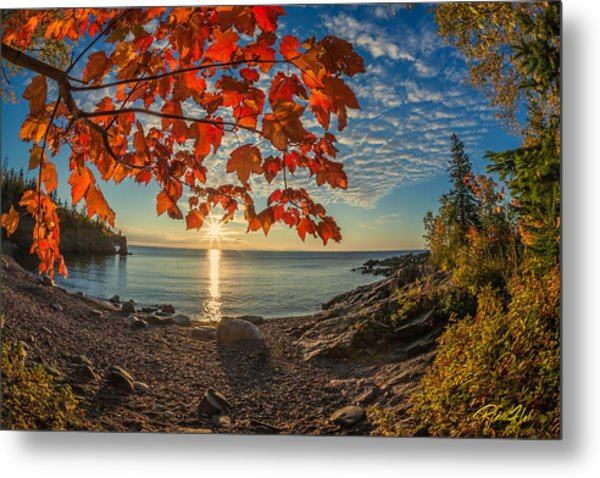 Autumn Bay Near Shovel Point Metal Print