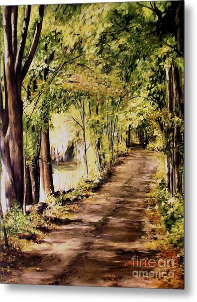 Autumn Begins In Underhill Metal Print
