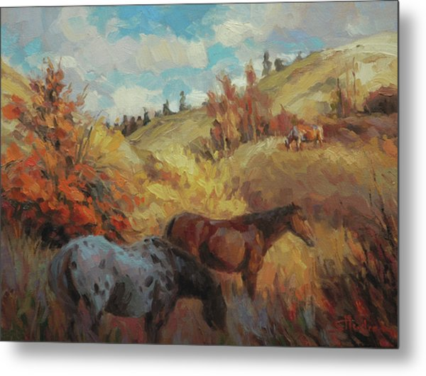 Autumn Browsing Metal Print