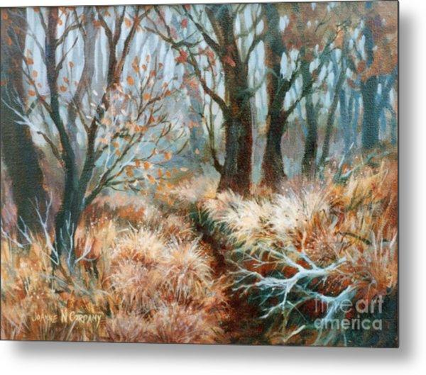 Autumn Brush Metal Print by JoAnne Corpany