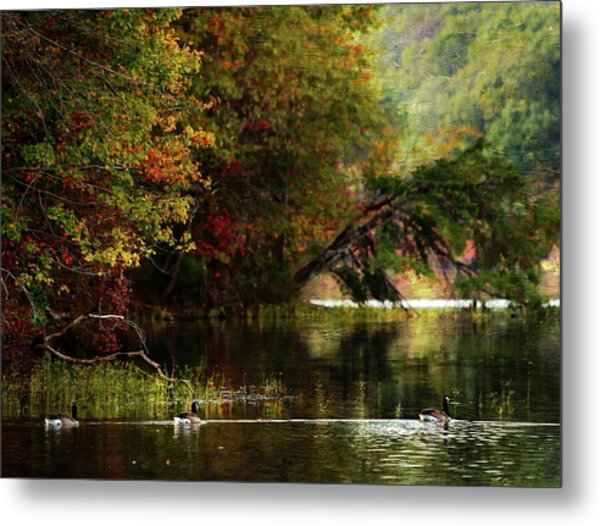 Autumn By The Lake Metal Print by Scott Fracasso