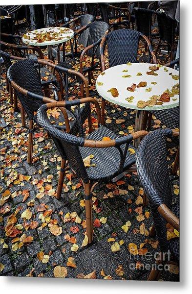 Autumn Cafe Metal Print